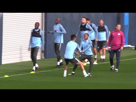 Manchester City Train Ahead Of Champions League Clash With Shakhtar Donetsk