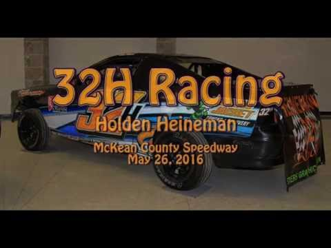 Mini Stock Feature Race at McKean County Raceway 5 26 2016