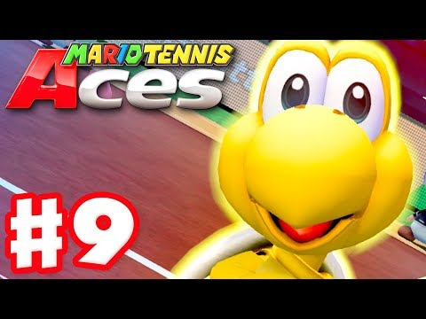Mario Tennis Aces - Gameplay Walkthrough Part 9 - Koopa Troopa! July Tournament! (Nintendo Switch) - 동영상