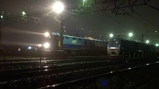 〔4K UHD|cc〕JR貨物・高崎線:高崎操車場、「EH200形」牽引貨物列車/発車シーン。《2093》