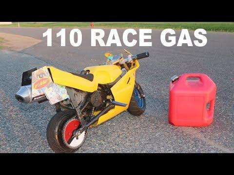 Race Gas In A Pocket Bike! Chain FLIES OFF!!