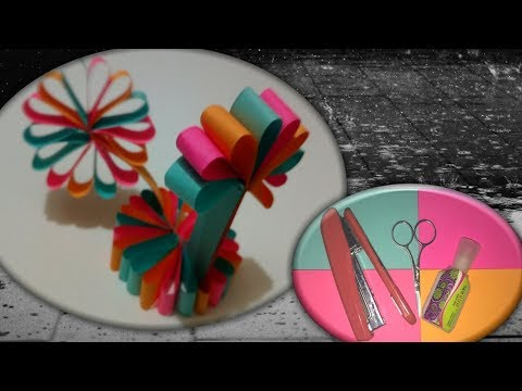#SK Channel #DIY paper flower || Decor your house with this colorful Flowers🌼