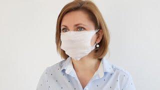 очеь легко! Защитная маска своими руками  без шитья Мастер класс  с размерами Как сделать маску