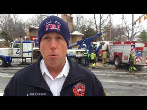 Oklahoma City fire truck involved in accident