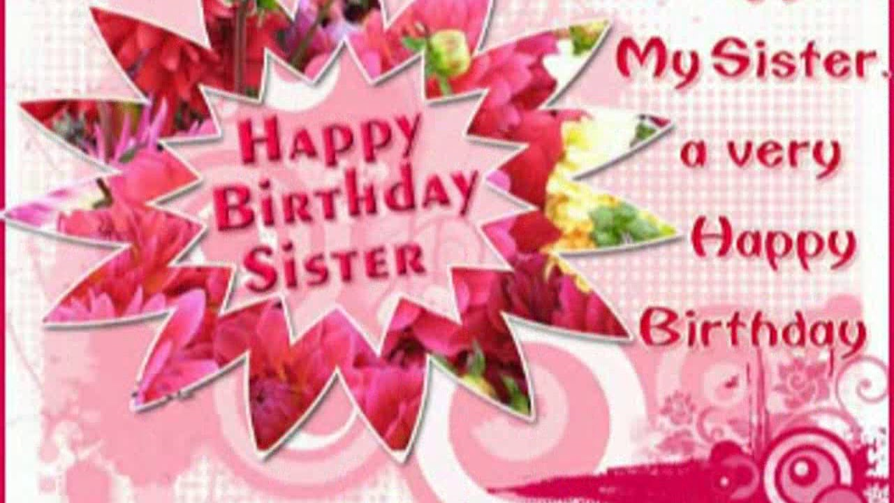 Happy Birthday Wishes For Sister Whatsapp Status Greeting Wallpapers