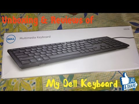Dell KB216 keyboard unboxing and review|| [In Hindi]