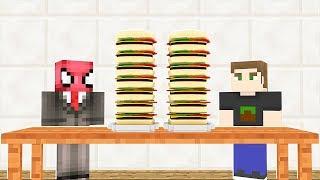 FAKİR 24 SAAT YEMEK YEDİ! 😱 - Minecraft