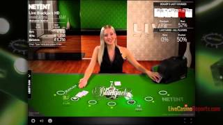 Real Live Blackjack Gameplay in NetEnt Casino
