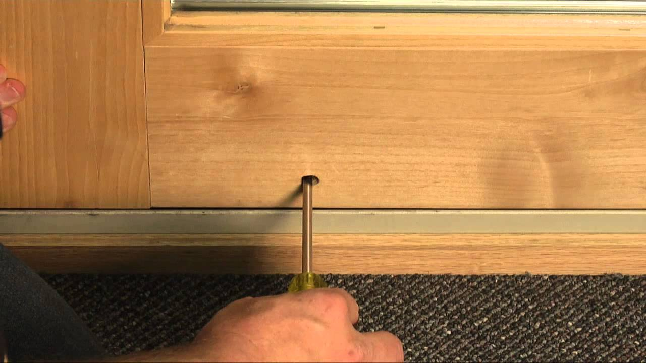 How To Adjust Custom Wood Patio Door Rollers Youtube
