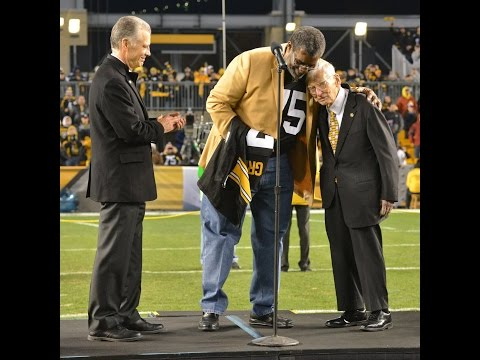 Mean Joe Greene Gives Emotional Speech After Getting Jersey Retired