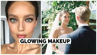 My Wedding Day Makeup + Wedding Sneak Peeks | Fresh + Glowing Makeup | Emily DiDonato + Erin Parsons