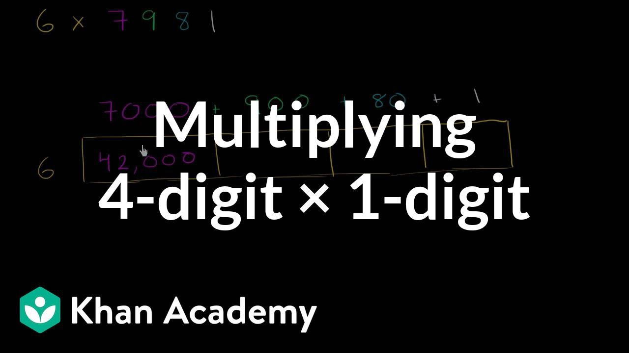 medium resolution of Multiplying with area model: 6 x 7981 (video)   Khan Academy