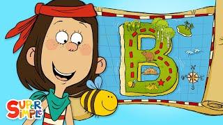 "Buried Treasure on ""B"" Island | Captain Seasalt And The ABC Pirates | Cartoons For Kids"