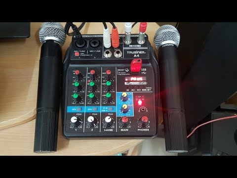 Home karaoke setup with recording using a line mixer