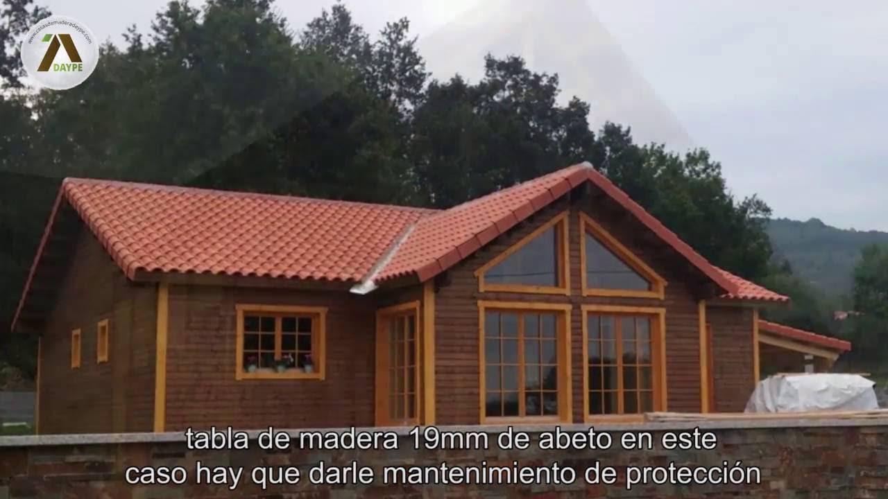 Casas de madera paredes y aislamientos youtube - Maderas daype ...
