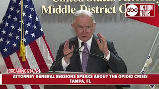 Attorney General Jeff Sessions discusses opioid epidemic affecting Tampa Bay area during visit
