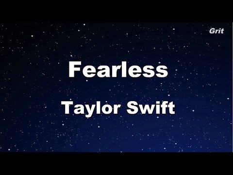 Fearless - Taylor Swift Karaoke【No Guide Melody】