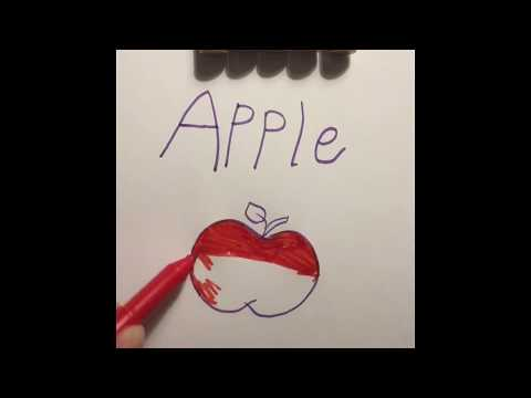 Alphabit a to g fruits apple banana with colors for kg1
