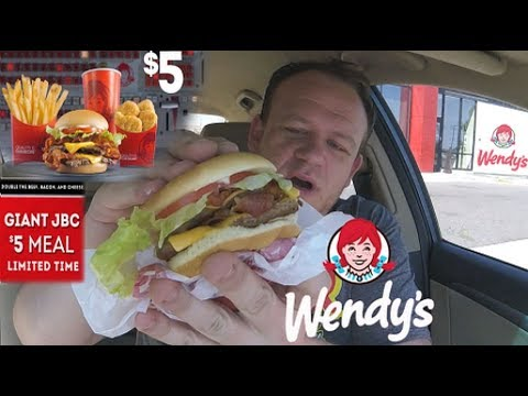 Wendy's ☆GIANT JR. BACON CHEESEBURGER☆ $5 MEAL DEAL!!!