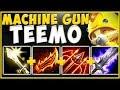 ACHIEVING MAX TEEMO DPS?? MACHINE GUN TEEMO IS UNBEATABLE! TEEMO TOP SEASON 10! - League of Legends