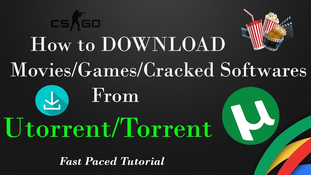 How to download software,videos,movies free via utorrent torrent.