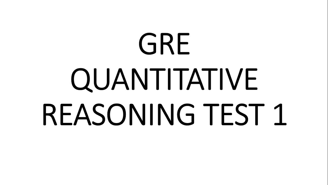 GRE Quantitative Reasoning Test 1 | Full Test | GRE Math | GRE Prep | GRE  Exam | GRE Target