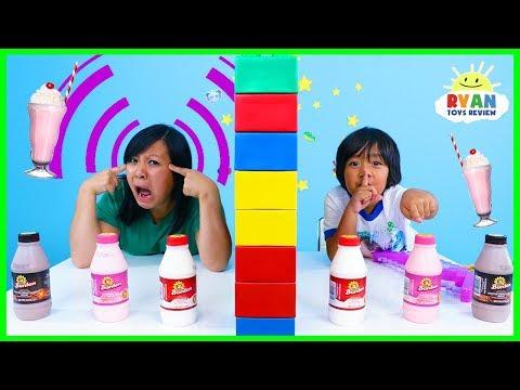 Twin Telepathy Milkshake Challenge With Ryan S Mommy Vs