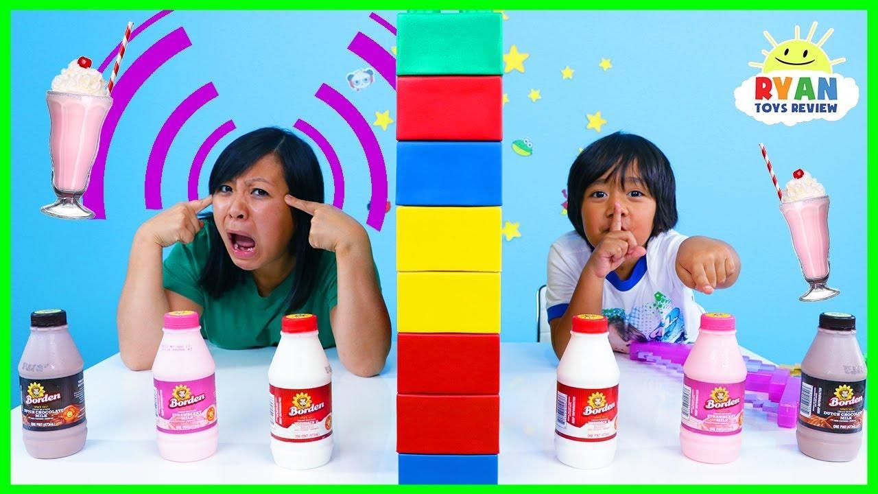 Twin Telepathy Milkshake Challenge Ryan Vs Mommy Youtube