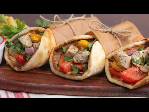 How To Make An Easy Sheet Pan Greek Pita Pocket • Tasty