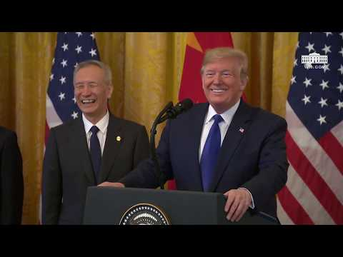 President Trump Participates in a Signing Ceremony