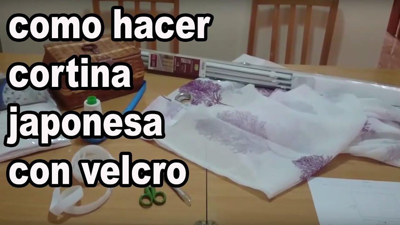 Como hacer cortina japonesa con velcro youtube for Como hacer una cortina para exterior