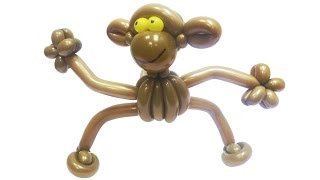 Обезьяна из воздушных шаров(Небольшая фигура обезьяны из воздушных шариков (высота фигуры 50 см). Больше фотографий фигурки обезьяны..., 2015-11-10T16:35:19.000Z)