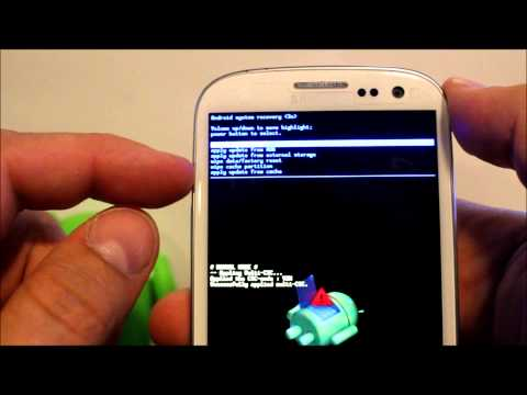 How To Enter Android Recovery & Factory Reset The Galaxy S3