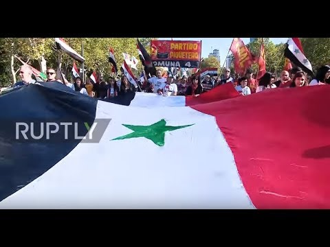 Argentina: Buenos Aires Syrian community march on US embassy