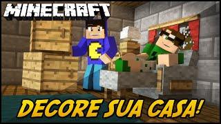 Minecraft Mod: DECORE SUA CASA! (Móveis de Decoração // DecoCraft Mod)