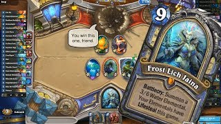 Hearthstone Frost Lich Jaina Mage Arena Knights of the Frozen Throne Gameplay
