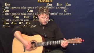 I Put A Spell on You (CCR) Strum Guitar Cover Lesson with Chords/Lyrics