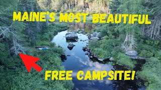 Maine's Most Beautiful Fŗee Campsite Part 1 - Rocky Lake