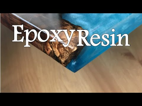EPOXY RESIN bar stool first time doing it!!!