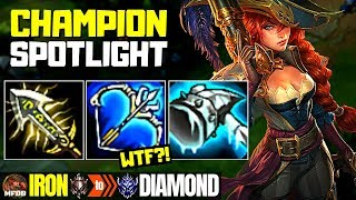 Miss Fortune Champion Spotlight Miss Fortune - Iron to Diamond Episode #12 (Season 9)