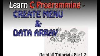 تعلم البرمجة C التعليمي | إنشاء القائمة ، مرجع مصفوفة التبديل الأمطار التعليمي جزء 2