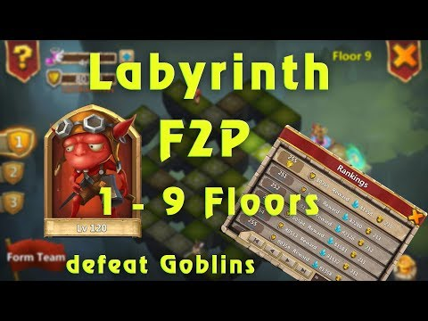 Castle Clash: Labyrinth Guide Defeat Goblins 1 - 9 Floors | How To Get More Point