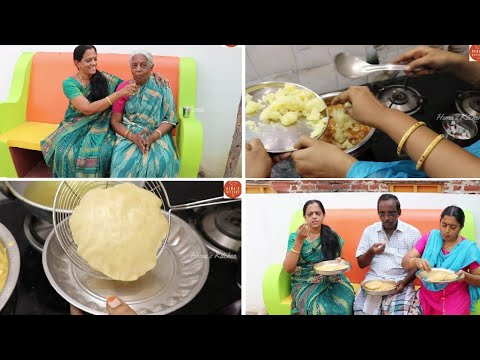 VLOG From Amma Home/What we prepared for Breakfast/Poori/Tomato Kurma/Potato Kurma