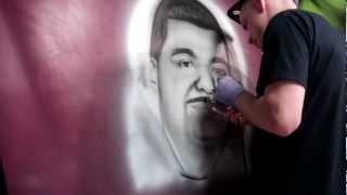 "Kustom Art Studios "" Painting Car Hood"""