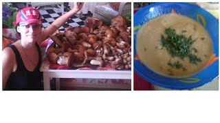Грибной суп. Правильное питание. Витаминный микс. Вкусные и полезные блюда