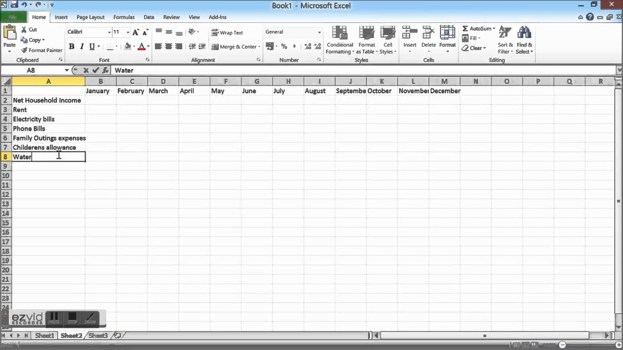 worksheet Build A Budget Worksheet household budget spreadshet how to create a spreadsheet in excel