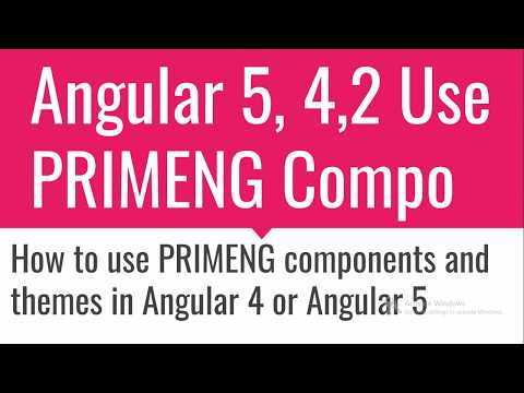 Angular 5 with PrimeNG Components and themes - YouTube