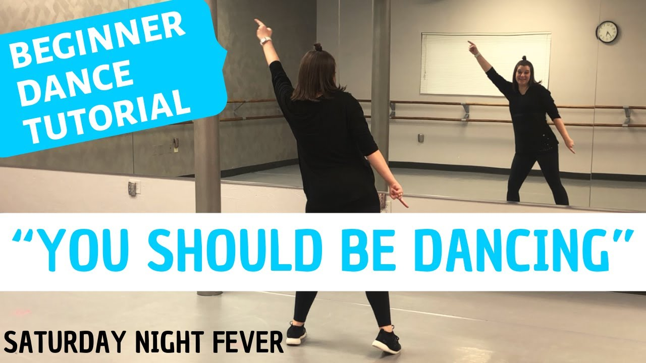 "DISCO DANCE - ""You Should Be Dancing"" from Saturday Night Fever (BEGINNER DANCE TUTORIAL)"