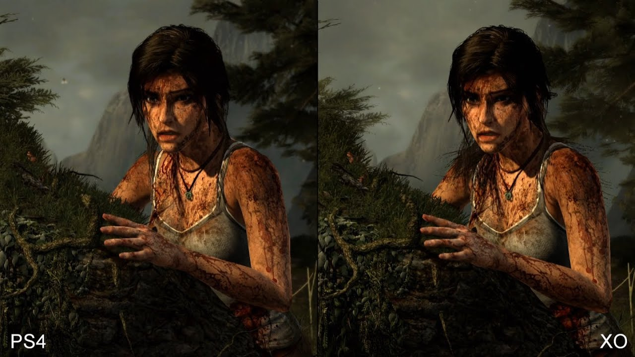 Tomb Raider Definitive Edition Ps4 Vs Xbox One Comparison Youtube