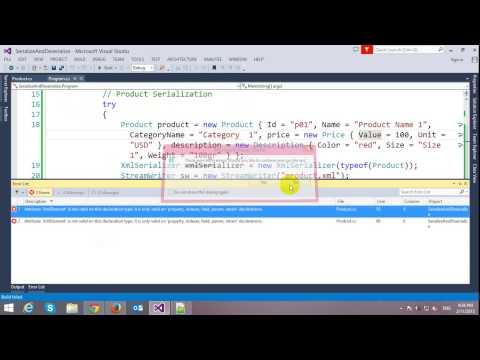 XML Serialization and Deserialization in C#